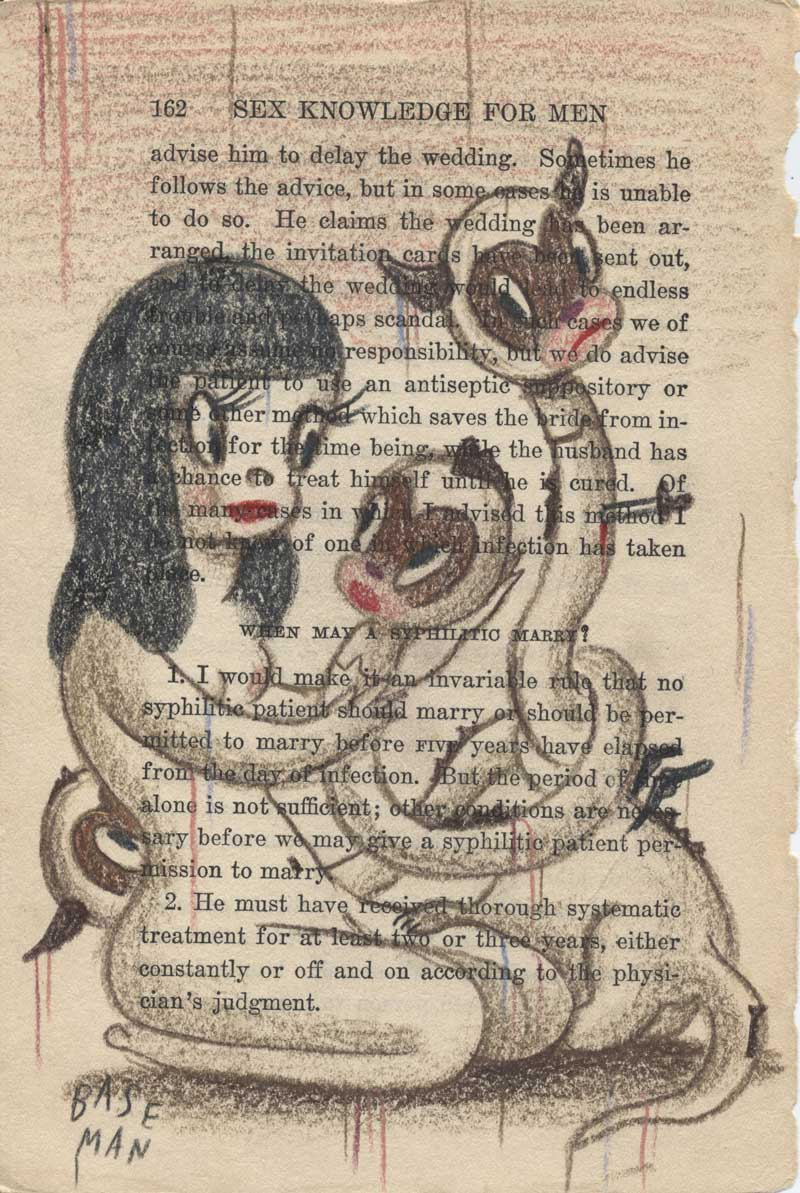 Gary Baseman, Sacrificing Of The Cake, 2009, Pencil On Paper, 24,5x17,5 Cm