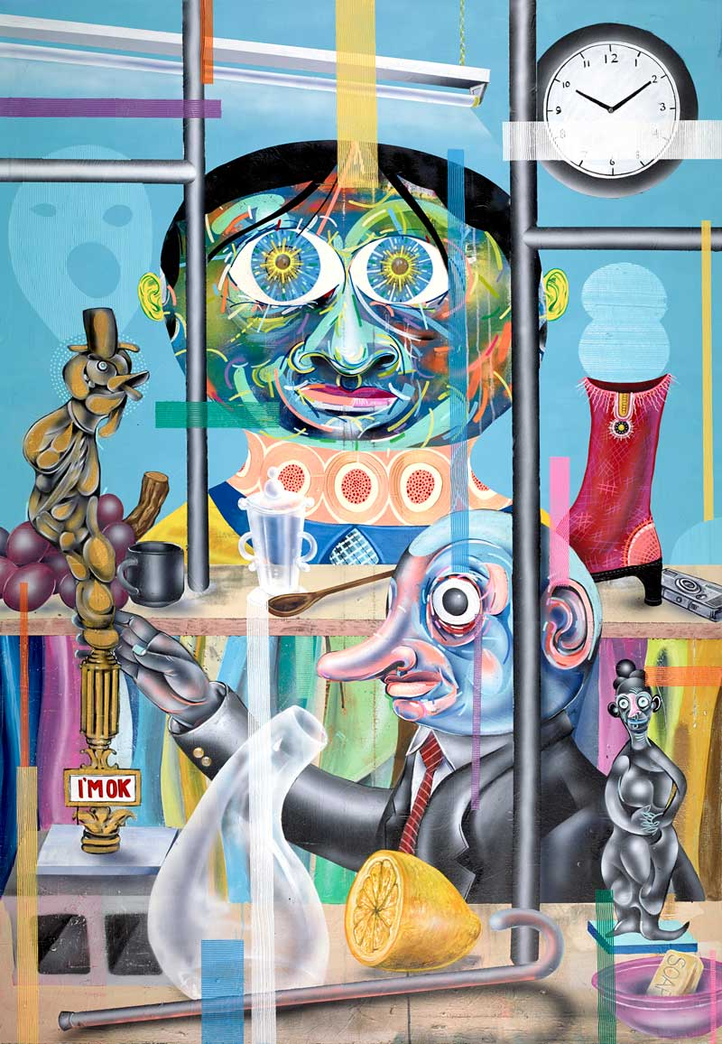 Clayton Brothers, All Due in Time, 2013, mixed media on canvas, 127x183 cm