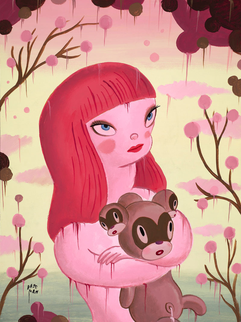 Gary Baseman, Blossoming Of The Chou, 2011, acrylic on canvas, 46x61 cm