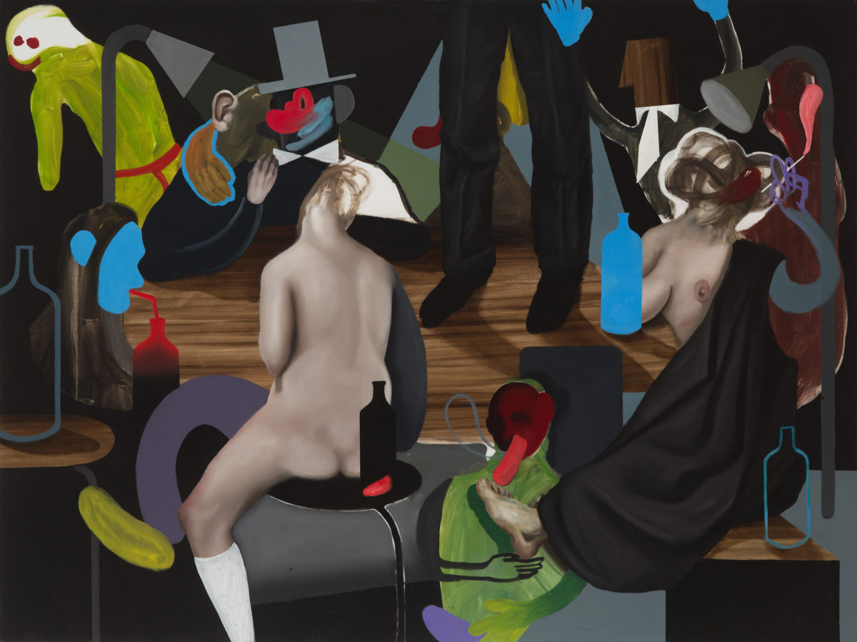 Giuliano Sale, The big party, 2017, oil on canvas, 150x200 cm