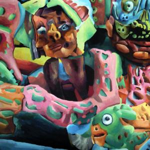 Marta Sesana, Braccione, 2014, Tempera On Paper, 50x70 Cm