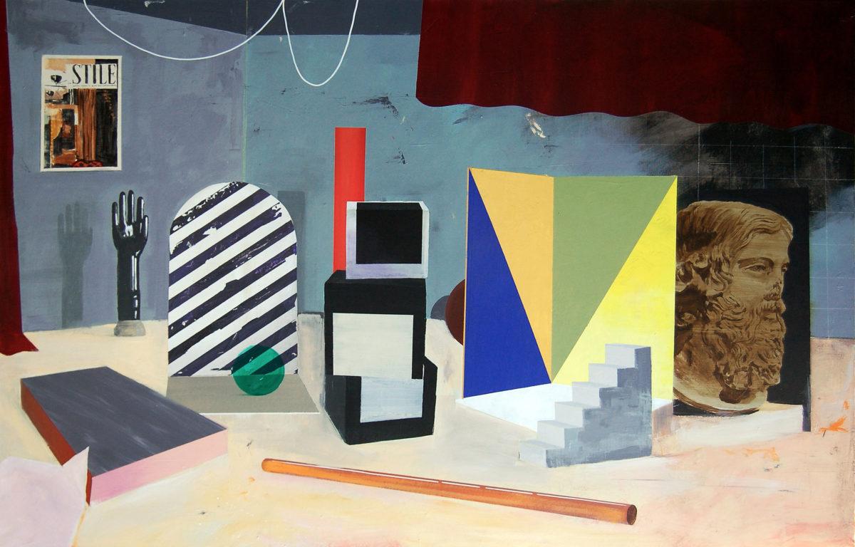 Paolo De Biasi, Per modo di dire, 2017, acrilico su tela, 105x150 cm