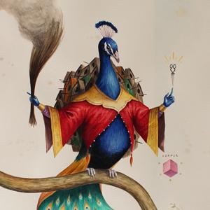 El Gato Chimney, Senza Titolo, 2014, watercolors on cotton paper, 71x50 cm