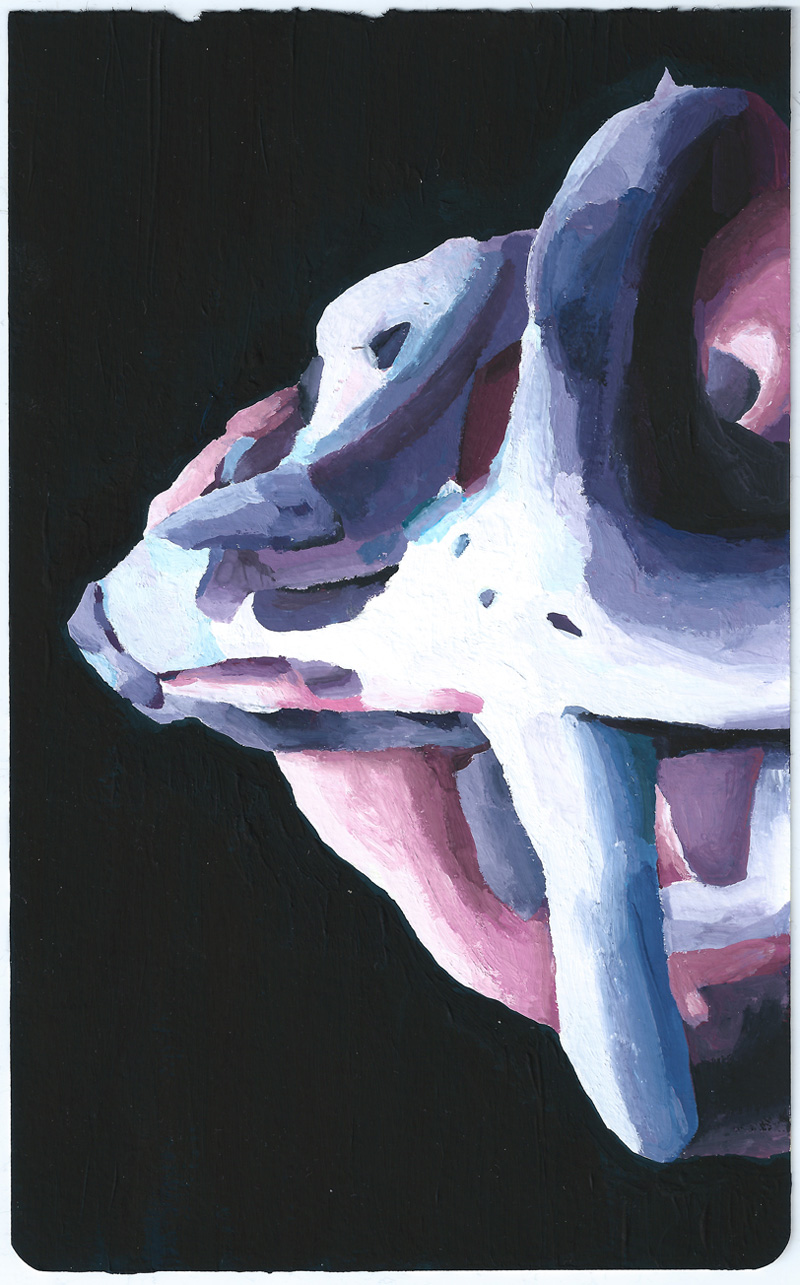 Marta Sesana, Mezza Luna 1, 2013, Tempera On Paper, 21x13 Cm