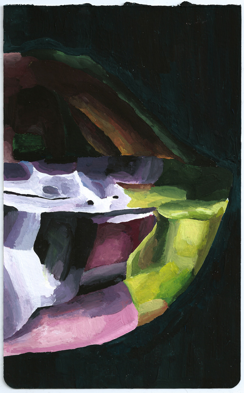 Marta Sesana, Mezza Luna 2, 2013, Oil On Linen, 21x13 Cm