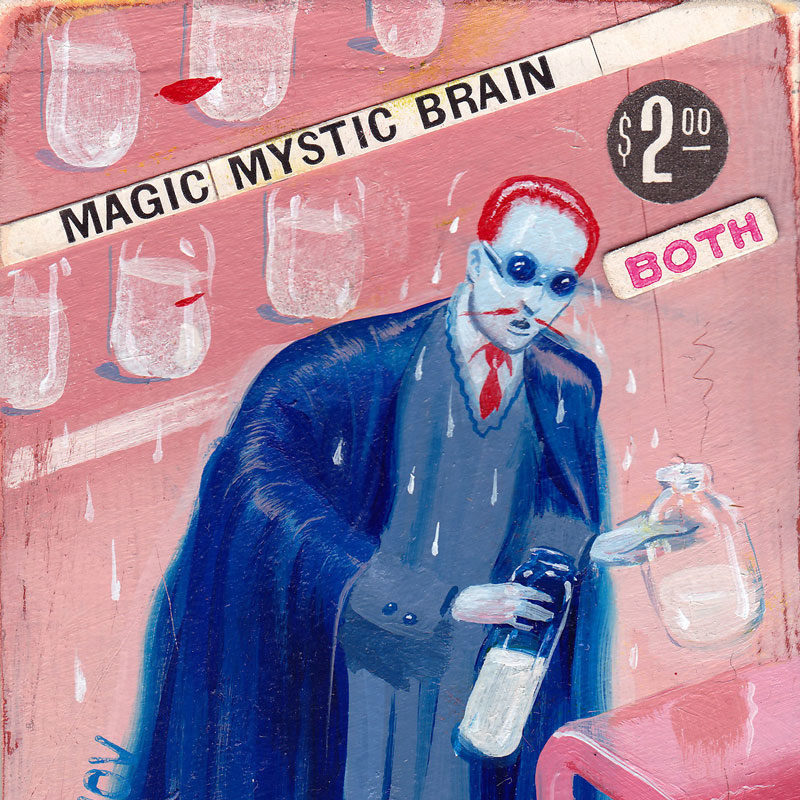 Ryan Heshka, Magic Mystic Brain, 2013, Cm 10×6, Acrylic And Mixed