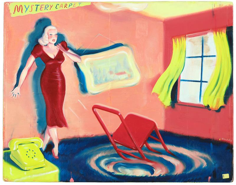 Ryan Heshka, Mystery Carpet, 2013, Oil And Mixed Media, 28x35,5 Cm
