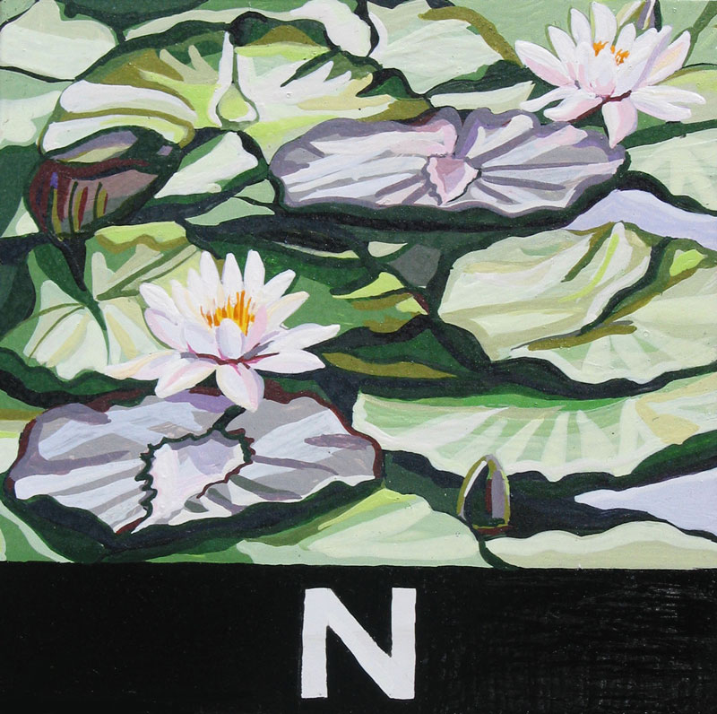 Antonella Mazzoni, N Di Condividere Un Pensiero, 2011, Acrilico Su Calamita, 8,5x8,5 Cm