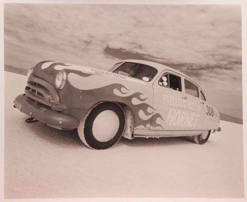 David Perry, Fabulous Hudson Hornet Bonneville Salt Flats, Utah, Toned Silver Gelatin Print, 28x35,5cm