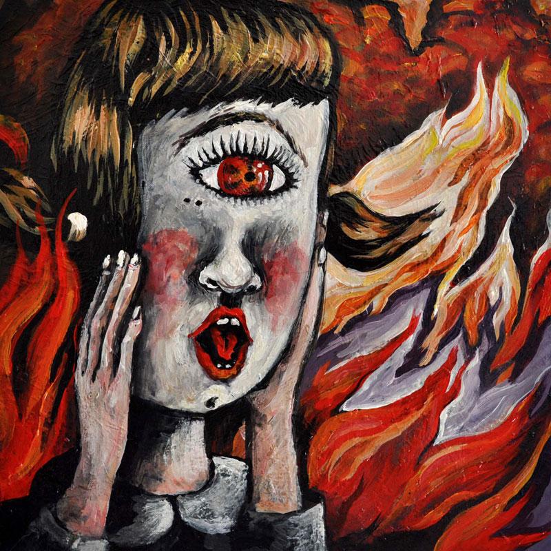 Elena Rapa, Oh-mamma!!!, 2010, Mixed Media On Canvas, 30x30 Cm