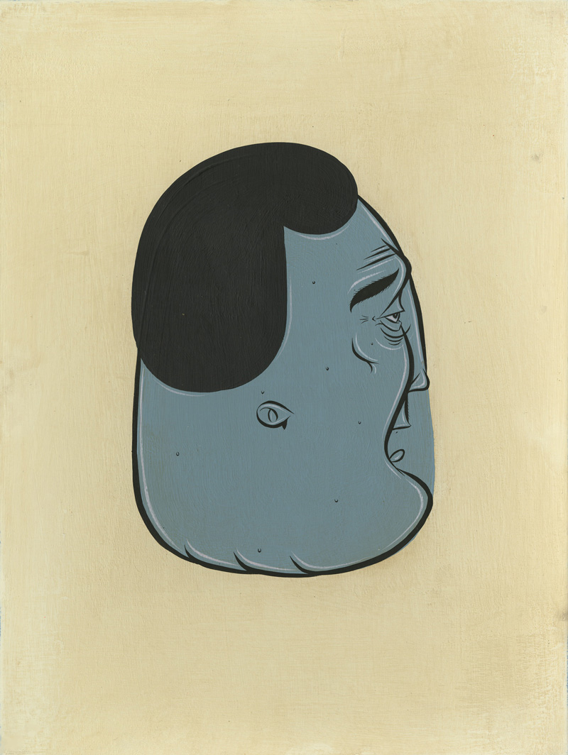 Barry McGee, Untitled, 2010, acrylic on paper, 48x31,7 cm