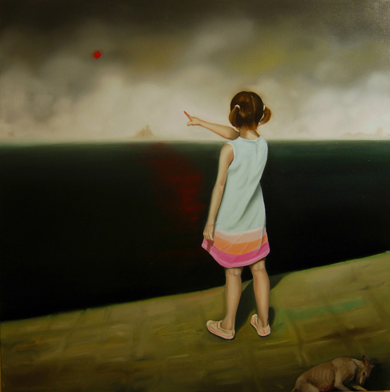 Giuliano Sale, L'oblio, 2010, Oil On Canvas, 80x80 Cm
