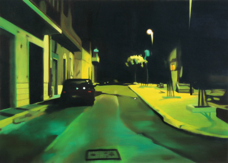 Francesco Lauretta, Paesaggio Nero I, 2007, oil on canvas, cm 50x70,