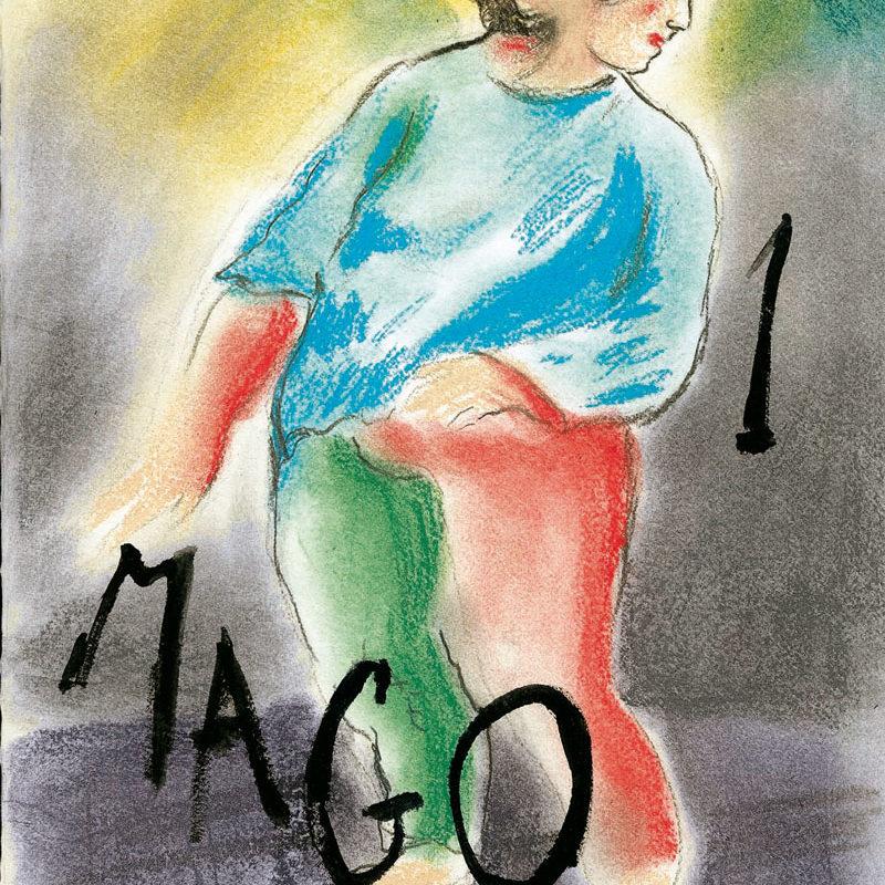 I–Sandro Chia, Il Mago, Cm 40×30,pastelli E Acrilico Su Carta