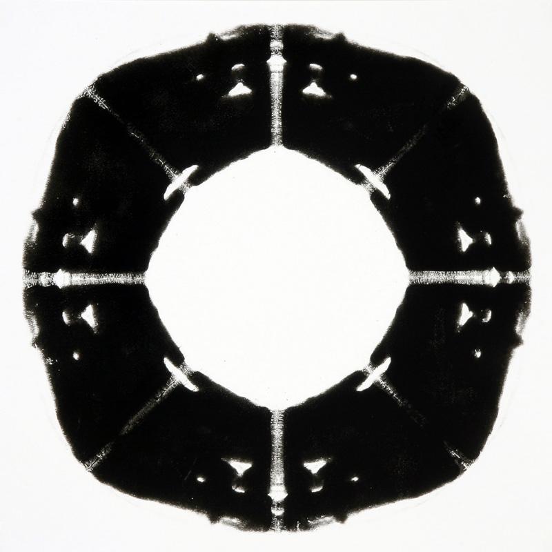 Pierluigi CALIGNANO, Rotante 16, 2007, smalto su carta, cm 50x50