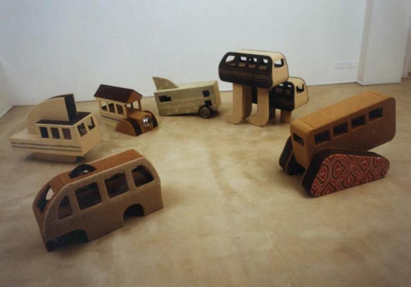 Pierluigi Calignano, da 4 a 5, 1999, installation