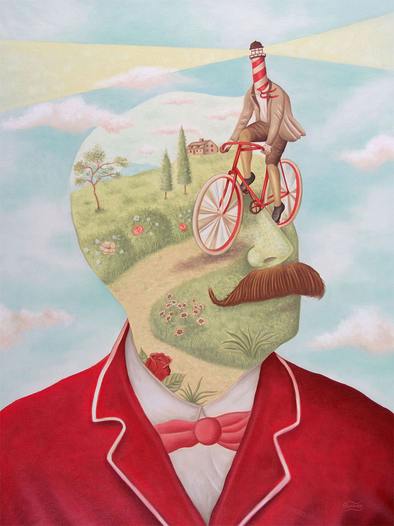 Rafael Silveira, Un Giro Nella Mente, 2015, Oil On Canvas, 80x60 Cm