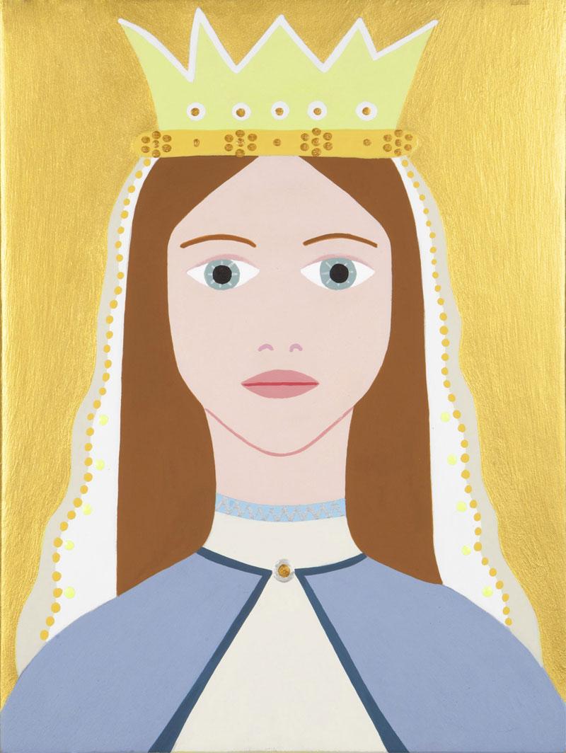 Fulvia Mendini, Madonnina della corona, 2015, acrilico su legno, 23x17 cm