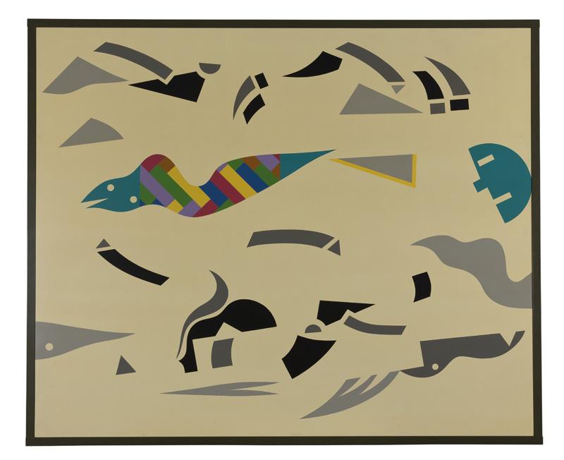 A. Mendini, 1986, ST, Nitro Su Legno, Cm 150×180 (cornice 185×160 Cm) (2)