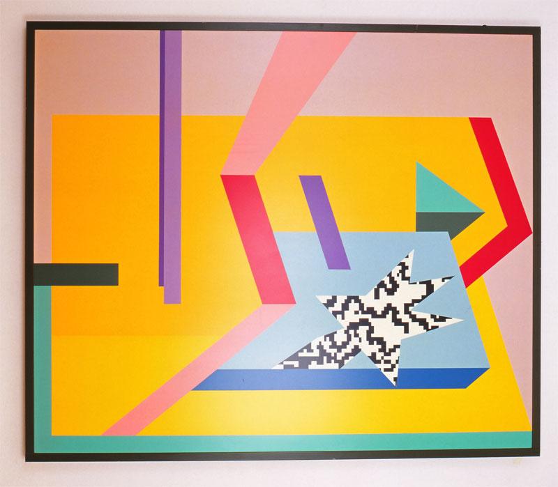A. Mendini, ST, 1996, nitro su legno, cm 150×180 (cornice 185×160 cm)