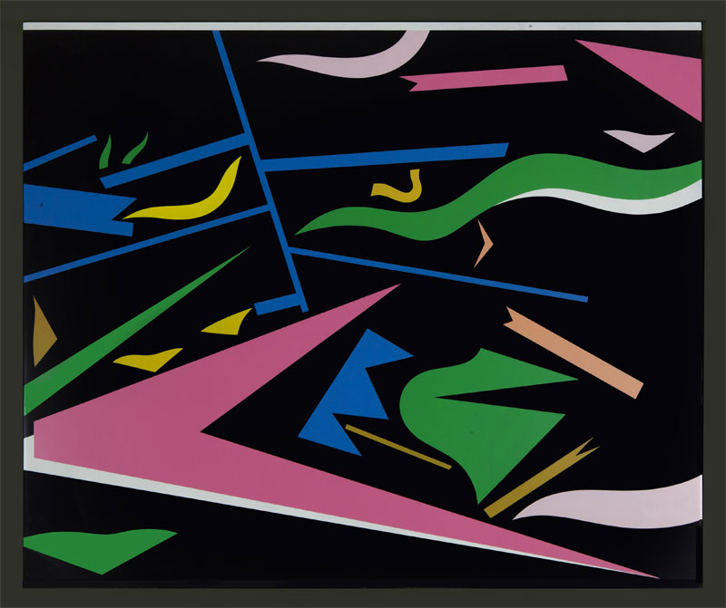A. Mendini, Senza Titolo, 1996, Nitro Su Legno, Cm 75×90.