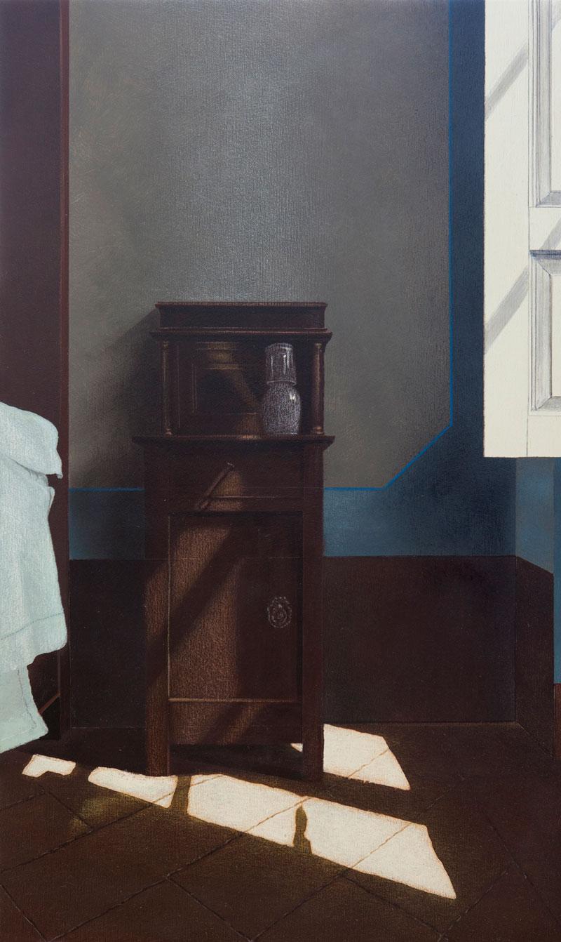 Arduino Cantafora, Finestra I, 2012, Vinilico E Olio Su Tavola, 49,5×29,5 Cm