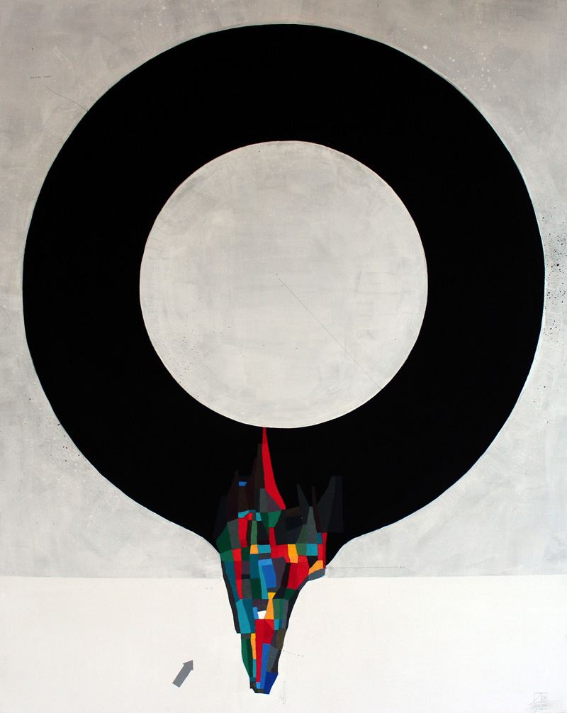 108, Zero, 2016, Mixed Media On Canvas, 80×100 Cm
