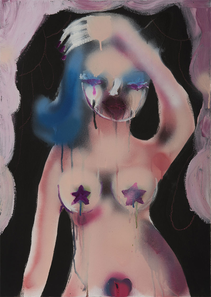 Silvia Argiolas, Creamy, 2016, Mixed Media On Canvas, 50×70 Cm