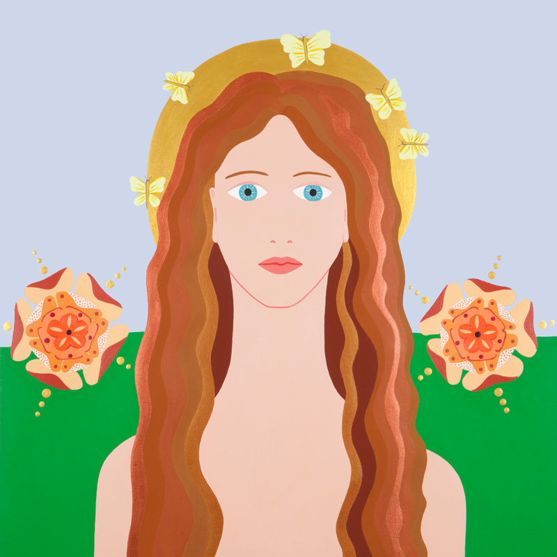Fulvia Mendini, Venus Verticordia, 2016, Acrylic On Canvas, 69×60 Cm