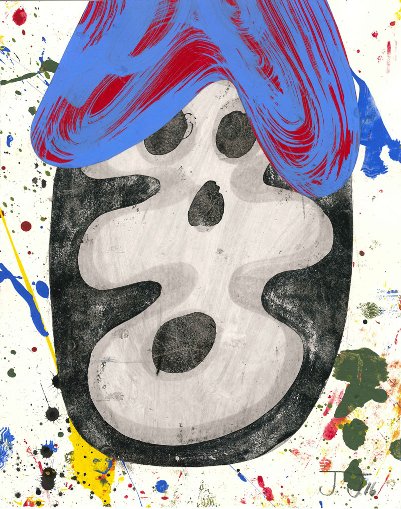 Josh Jefferson, Casper, 2016, Collage On Paper, 30,5×23 Cm