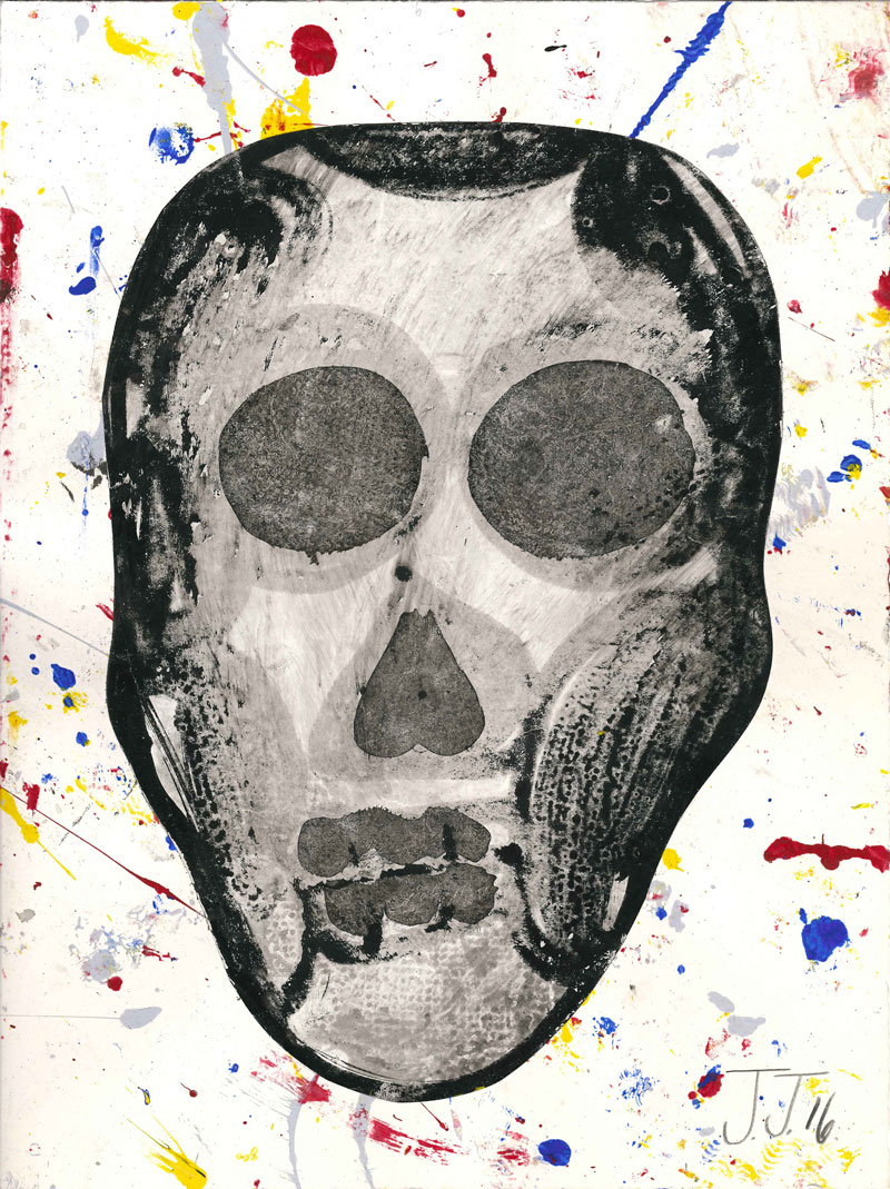 Josh Jefferson, Skull, 2016, collage on paper, 30,5x23 cm