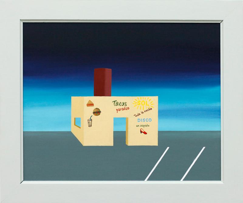 Richard-johansson-disco-un-zapato-2016-oil-on-panel-33×41-cm-framed-49×41-cm