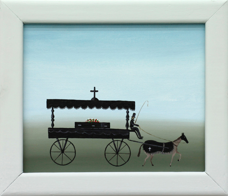 Richard Johansson, the last ride, 2016, oil on panel, 18×22 cm