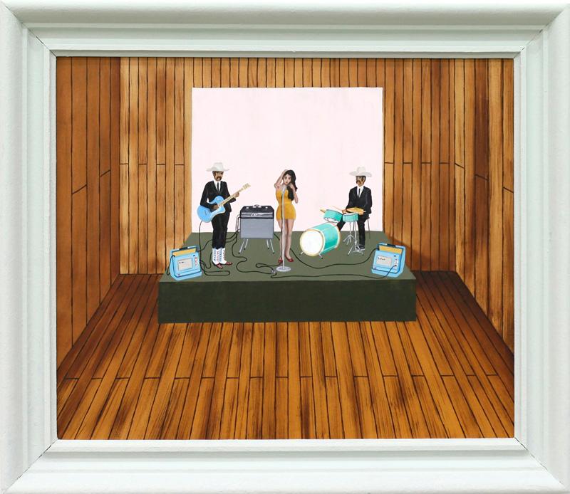Richard Johansson, uno, dos, tres, 2016, oil on panel, 44×54 cm