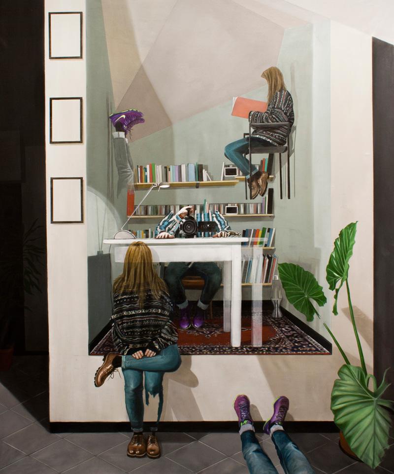 Dario Maglionico, Reificazione #24, oil on canvas, 140×110 cm