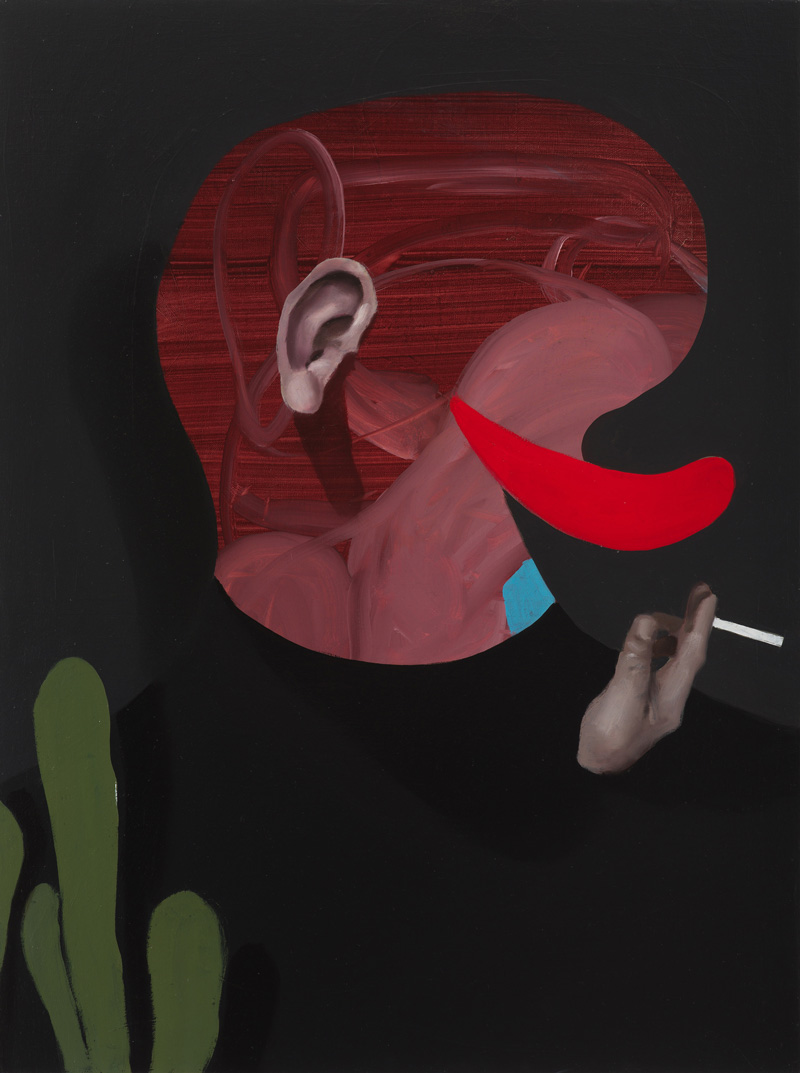 Giuliano Sale, Untitled, 2017, oil on canvas, 60×45 cm