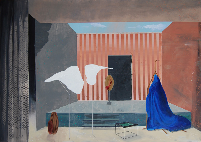 Paolo De Biasi, A proposito di, 2017, acrylic on canvas, 105×150 cm