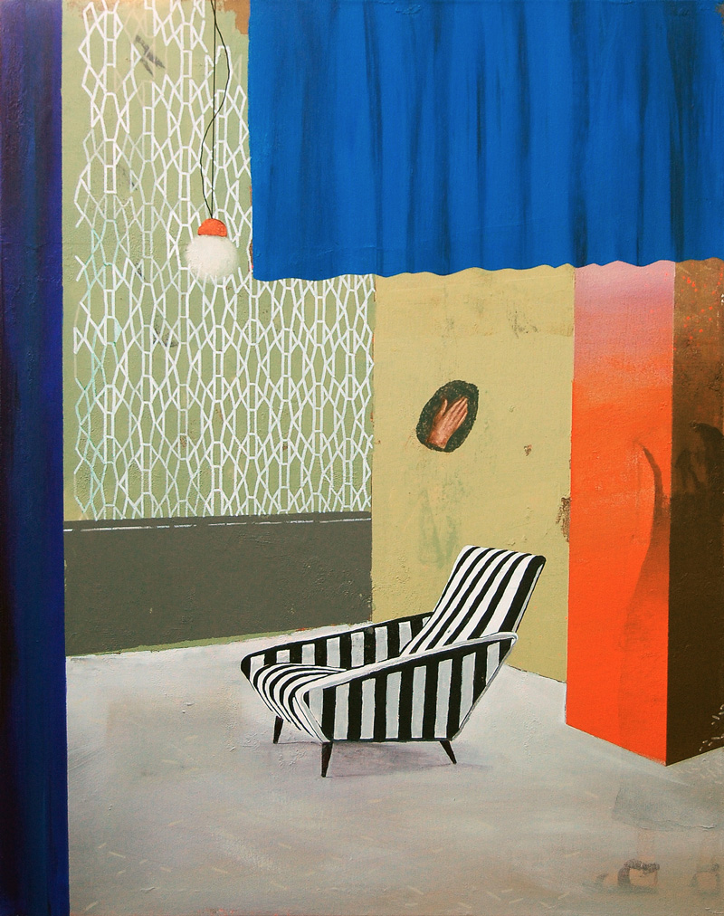 Paolo De Biasi, Così come dopo, 2017, acrylic on canvas, 90×70 cm