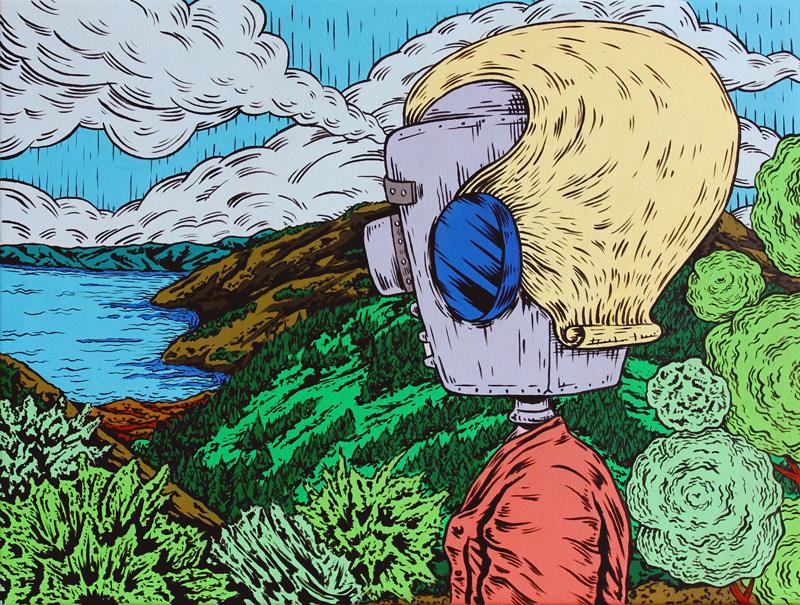 Dast, Riempirsi di gioia, acrylic on canvas, 40x30 cm