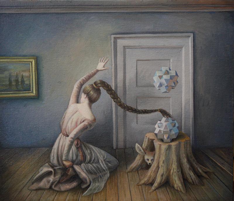 Ilaria Del Monte, Anticamera, 2017, oil on canvas, 30×35 cm