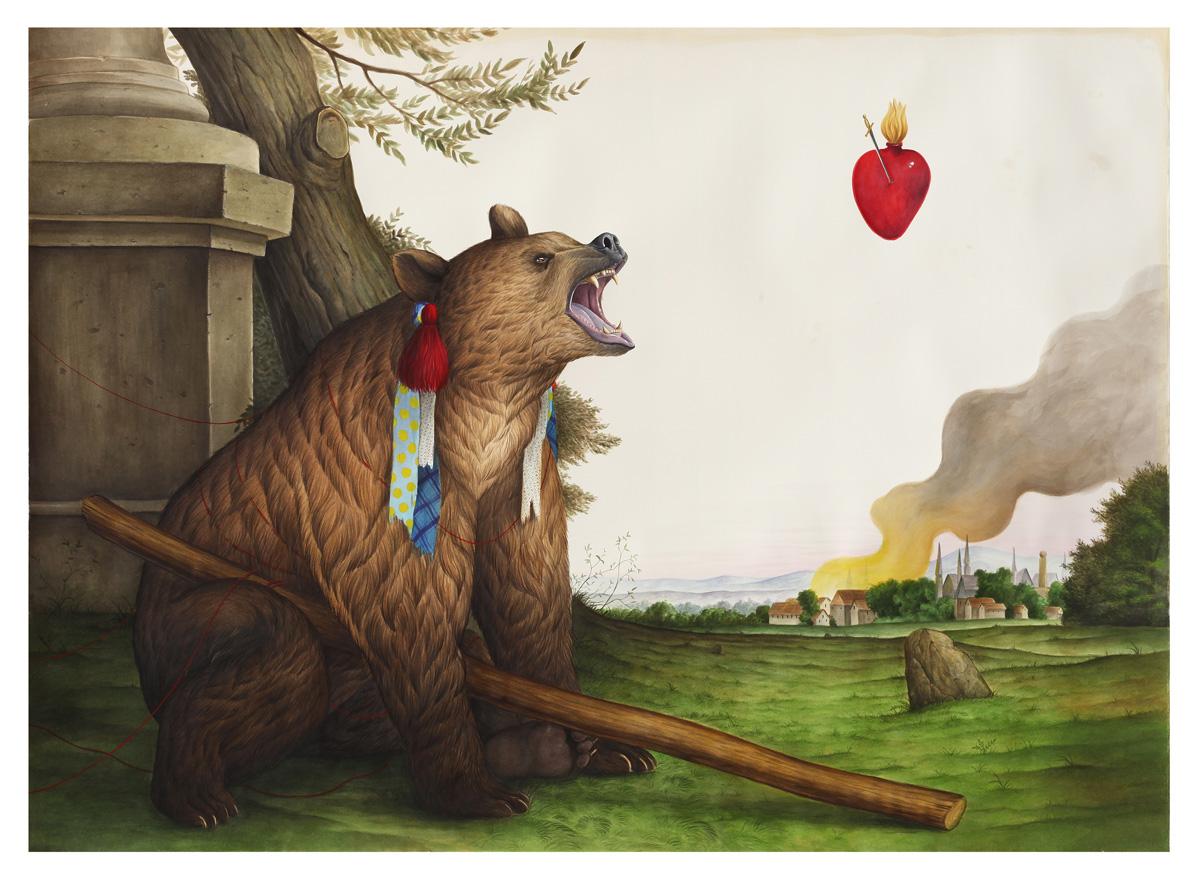 El Gato Chimney, Ogni Verità è Ricurva, Il Tempo Stesso è Un Circolo, Tecnica Mista Su Carta, 110×153 Cm 1200px