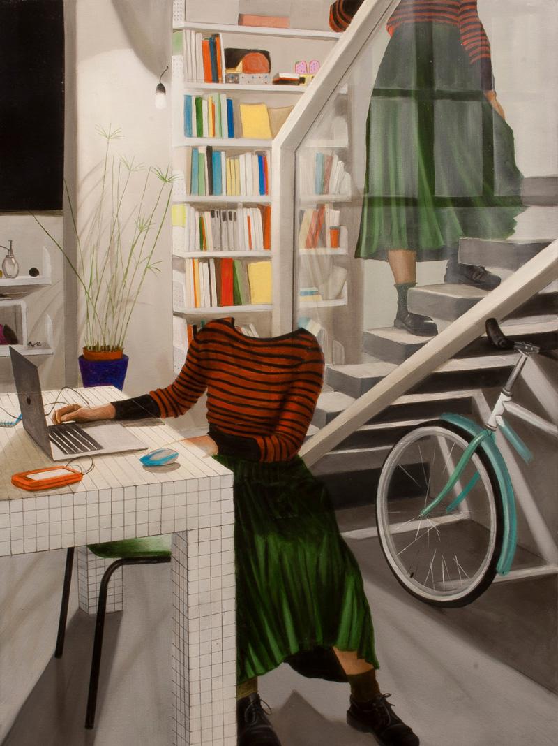 Dario Maglionico, Reificazione #39, oil on canvas, 60×45 cm, 2017
