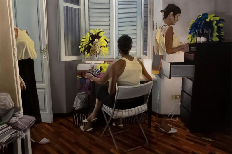 Dario Maglionico, Reificazione #40, oil on canvas, 100×150 cm, 2017
