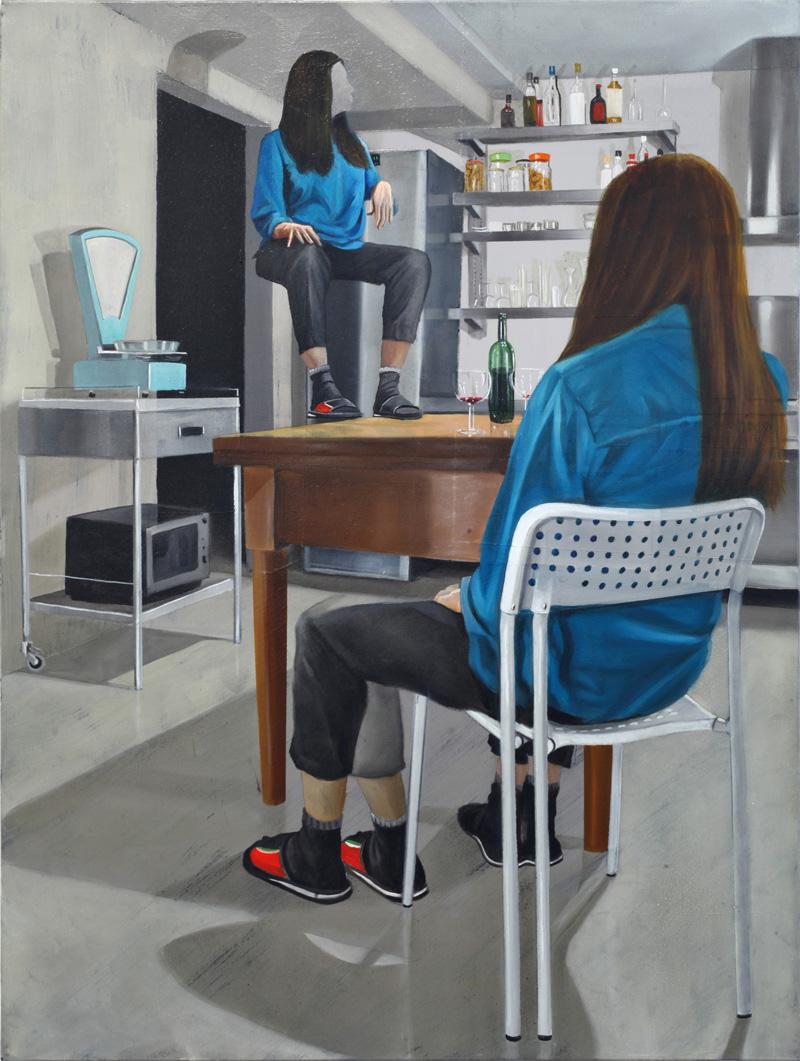 Dario Maglionico, Reificazione #41, 2017, oil on canvas, 60×45 cm