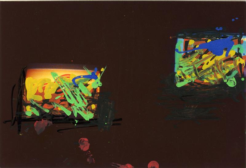 Mario Schifano, #243, foto ritoccate, 10×15 cm