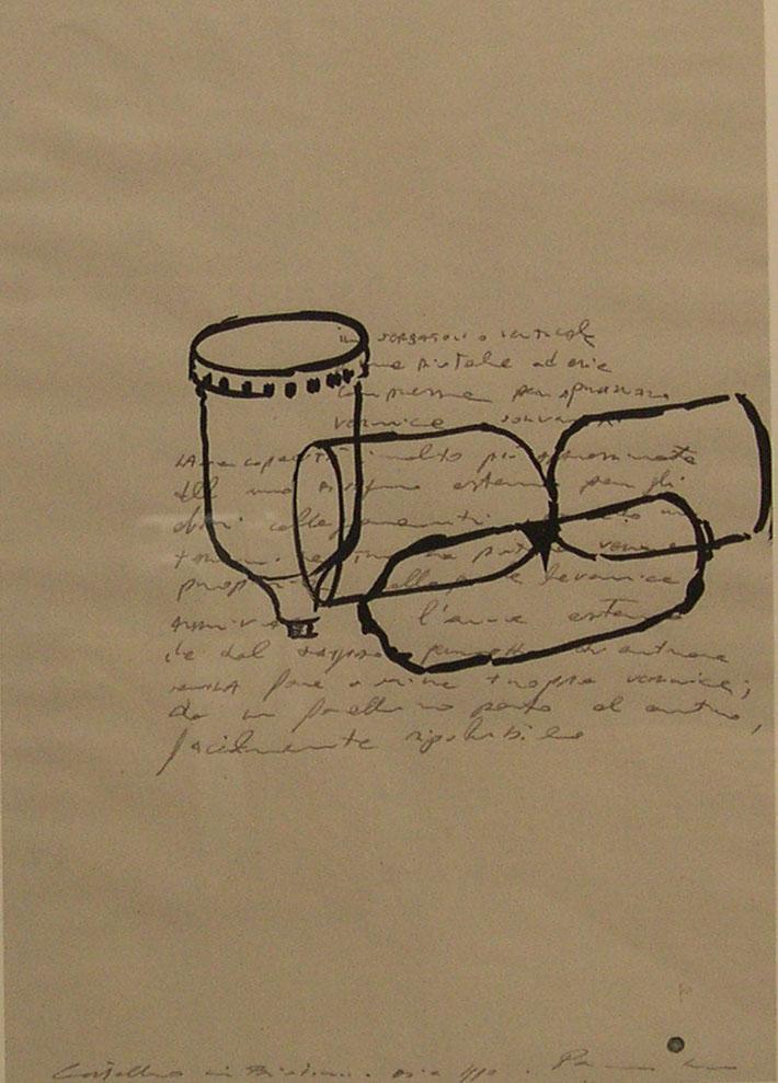Luca Pancrazzi, Disegni, 1990, watercolor and pencil on paper,  37,5×28 cm