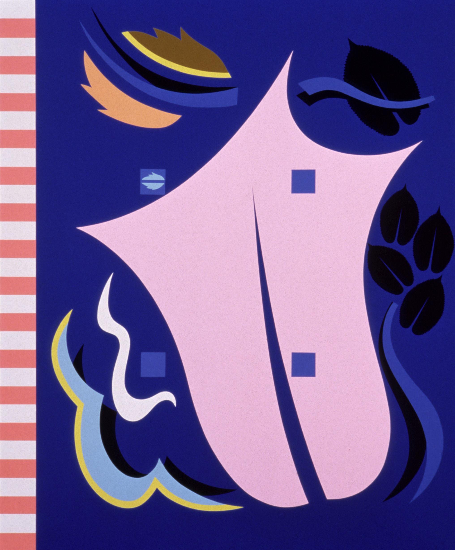 Alessandro Mendini,  Untitled, 1986, nitro on wood, 150×180 cm