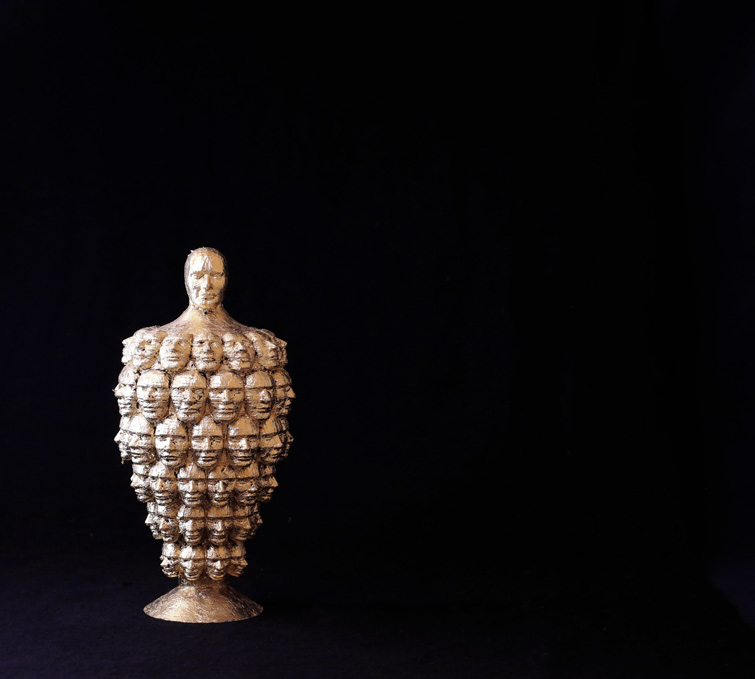 Anton Kobrinetz, Crazy Man, pla, 12x13x30 cm, edition of 6