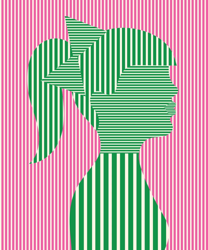 Olimpia Zagnoli, She, 2019, limited edition of 8 giclee prints on Somerset Velvet,  60×50 cm
