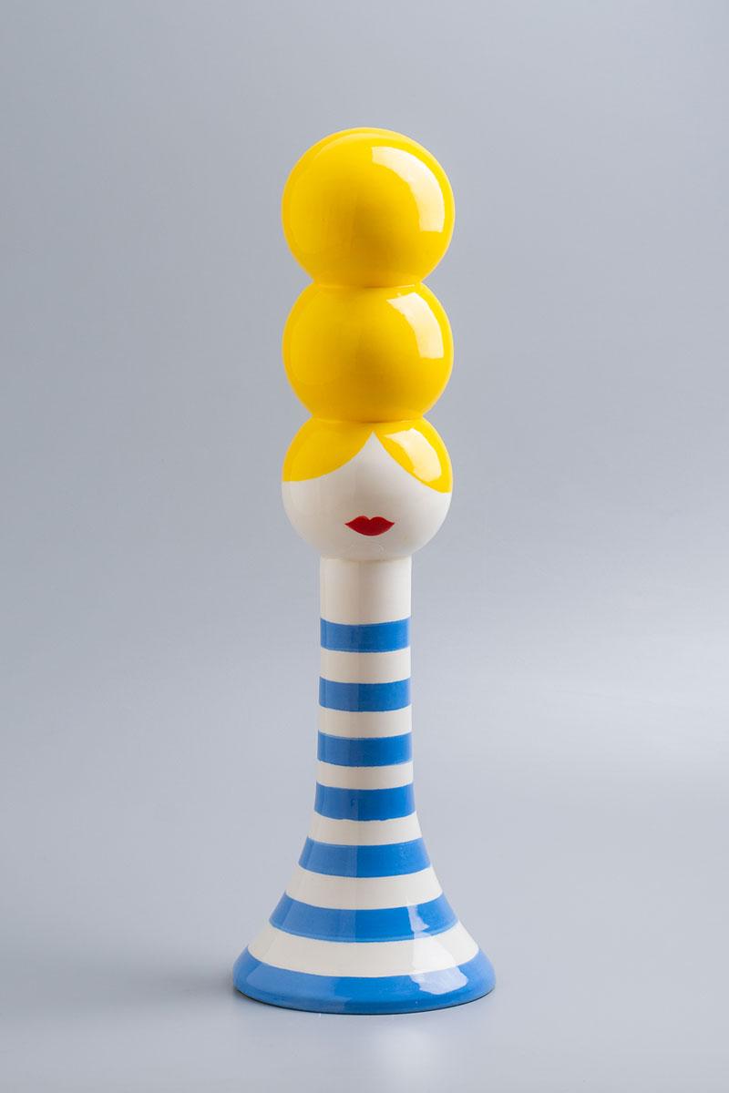 Olimpia Zagnoli, Silvietta, 2019, handmade ceramic, limited edition of 5,  48,5x15x15 cm
